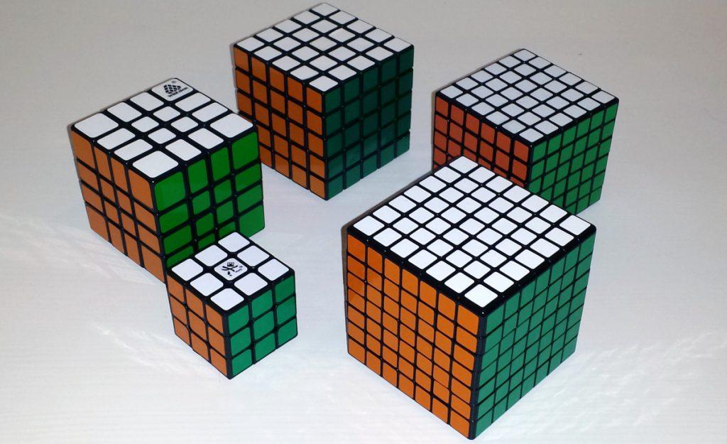 7x7, 6x6, 5x5, 4x4 MixUp, 3x3 Mini